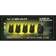 Carp Academy V-Head kapásjelző szett 4+1