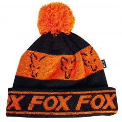 FOX Black/Orange Lined Bobble Kötött Sapka