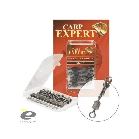 Carp Expert Quick Lock Swivel - Gyorskapocs