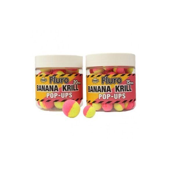 Dynamite Baits Banana&Krill Fluro Pop Up Bojli 15mm