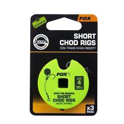 Fox Short Chod Rigs kész chod szerelék 4-es méret