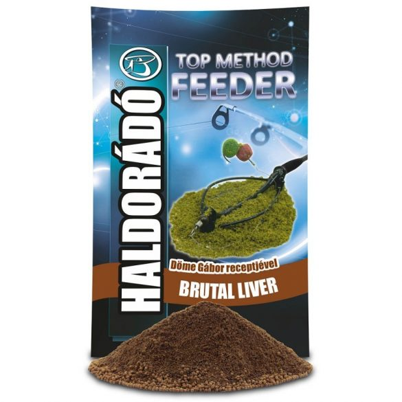Haldorádó Top Method Feeder Brutál Liver etetőanyag
