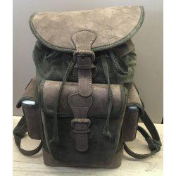 Bőr hátizsák zöld-barna