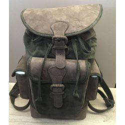 Nobil Hunting Bőr hátizsák zöld-barna
