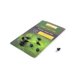 PB Products Ring Bait Screw 360 csalirögzítő karikával / fekete