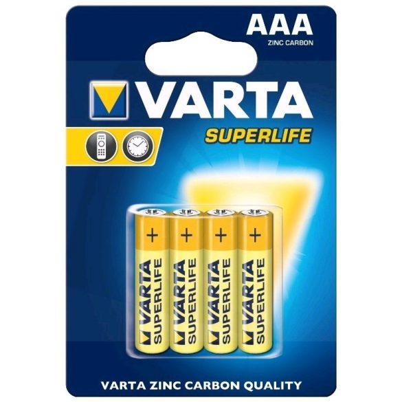 Varta Superlife AAA mikro ceruza elem 4db/cs